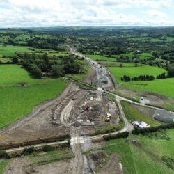 Mór-thochailt ag na Cillíní gar do láthair taiscumair, Iúil 2020 - Bulk Excavation at Killeen near Reservoir site July 2020