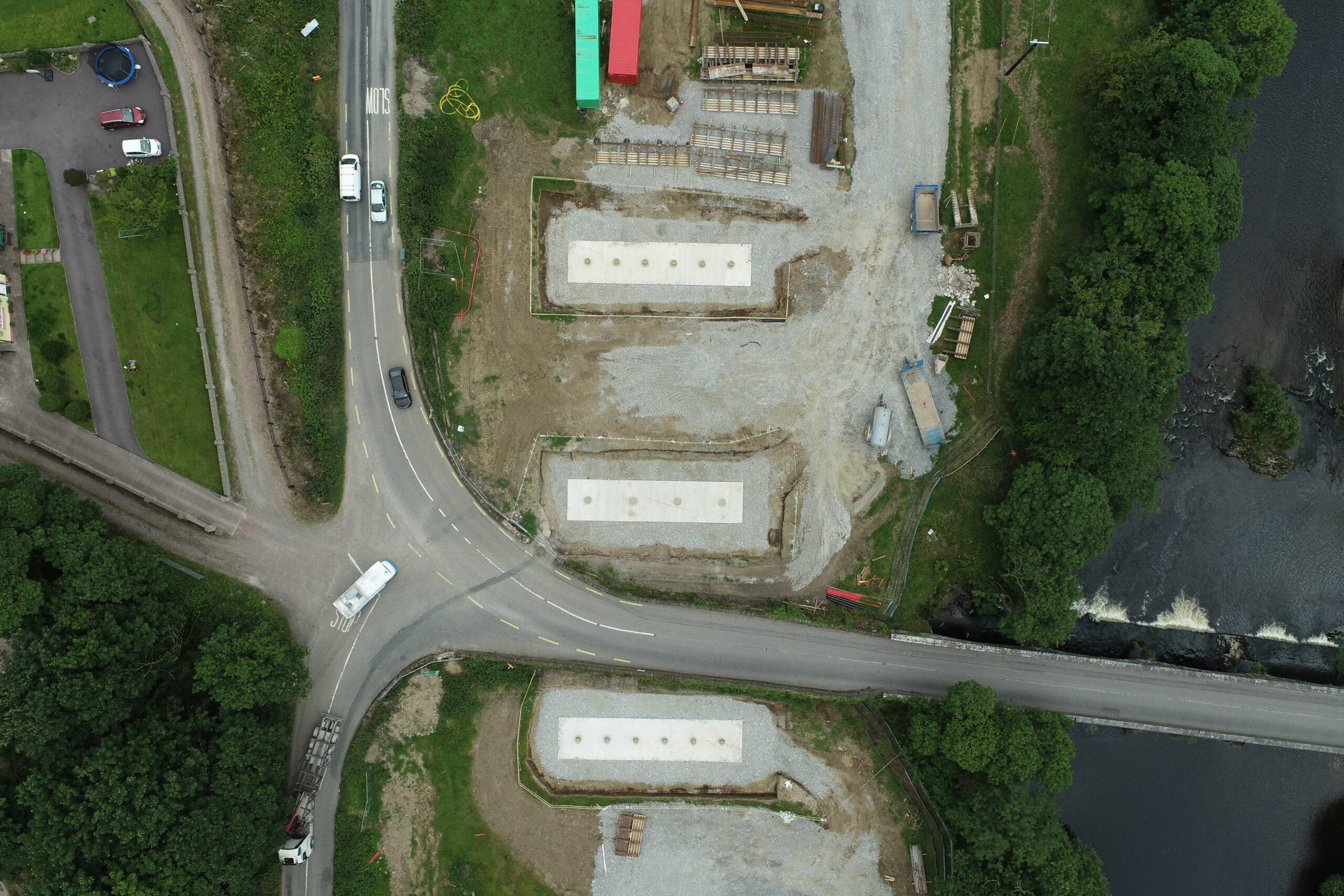 Ummer bridge foundations July 2020